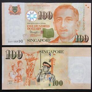 2018 SINGAPORE 100 DOLLARS P-50h UNC> > > > > > > > > >W/2 STAR YOUTH THARMAN NR