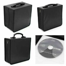 350 Capacity CD DVD Disc Carry Case Holder Bag Wallet Storage Ring Binder Black