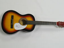 MEGHAN TRAINOR SIGNED SUNBURST ACOUSTIC GUITAR ALL ABOUT THAT BASS JSA COA
