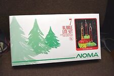 7-LIGHT Holiday Light Set BUBBLE LIGHTS Noma 2807 Multi Colored Red Green NEW
