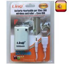 Bateria recargable para mando consola XBOX 360 con cable de carga incluidoLINQ