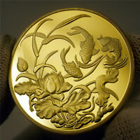 NEW YEAR Chinese Koi Fish Geomancy Fortune Love Luck Wish Token Coin Collection