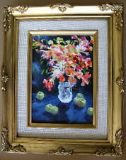 "Framed Oil Painting ""Floral-N16"" 9x11 in."