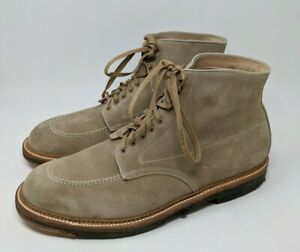 used ALDEN 40554H Indy Boots DESERT SUEDE Crepe Sole 12 C/E speed hooks great