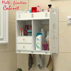 AU Bathroom Cabinet Shelf Organizer Drawer Storage Holder Wall Mounted Cupboard
