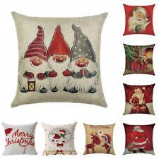 """18"""" Christmas Santa Claus Waist Throw Pillow Case Cushion Cover Home Decor Gift"""
