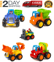 5 Set Baby Toddlers Dump Truck Toy Kids Boys Children Vehicle Play Construction
