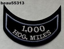 HARLEY OWNERS GROUP HOG H.O.G. 1,000 MILEAGE MILE VEST JACKET HAT PATCH