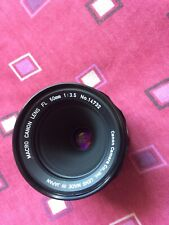 Canon FL 50mm f3.5 MACRO Lens in fabulous mechanical and optical quality