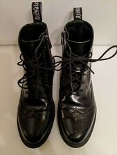 Doc Martens Delphine black shiny boots womens 9. Only been worn 2 times.