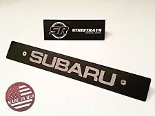 [StreetRays] Front License Plate Delete with [SUBARU] Fill Laser Engraved Logo