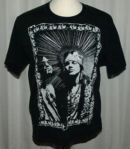 Vintage Style Guns N Roses Concert Tour Graphic T-shirt Axl Slash Duff Rarity