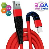 HeavyDuty Long Braided Charger USB Charging Data Cable Lead For iPhone 7 8 11 6s
