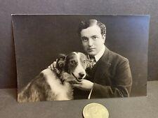 Vintage Real Photo Postcard, Dog Borzoi?, Riga, Latvia, Russian, Hebensperger #6