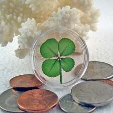 Real Four Leaf Clover Good Luck Pocket Token Item CH-4L