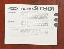 FUJICA ST801 CAMERA INSTRUCTIONS GR/FR/IT/132222