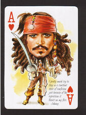 Johnny Depp Pirates of the Caribbean Movie Film Star Caricature Playing Card