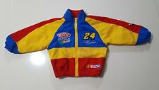 NASCAR Jeff Gordon Du Pont #24 Toddler Baby Infant Windbreaker Jacket Size 3