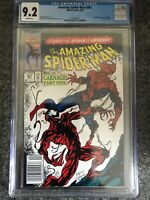 Amazing Spider-Man 361 CGC 9.2 Newsstand WHITE PAGES 1992 1st Carnage Appearance