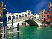 CITYSCAPE VENICE RIALTO BRIDGE CANAL LARGE POSTER ART PRINT BB3062A