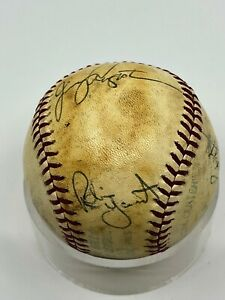 Robin Yount Milwaukee Brewers Team Signed Autograph Official AL MLB Baseball