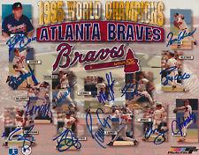 95 Atlanta Braves 8x10 autographed photo Reprint