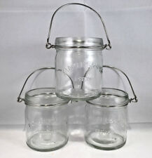 Yankee candle mini glass mason jar votive candle holders lot of 3