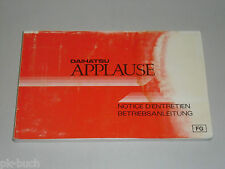 Operating Instructions Notice D'Entretien Daihatsu Applause Stand 06/1989