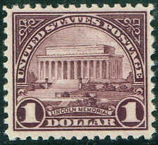 #571 1 DOLLAR 1922 FLAT PLATE ISSUE MINT-OG/NH--VF/XF