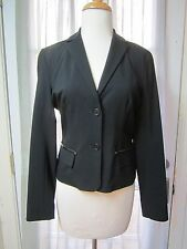 BCBG Max Azria Black 2 Buttons Up Long Sleeve Blazer Jacket Women 4 **Excellent*