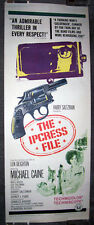 THE IPCRESS FILE 14x36 MICHAEL CAINE/SUE LLOYD original 1965 insert movie poster