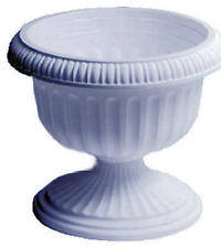 "(2) Att Southern Ur1212Wh 12"" White Grecian Urn Plastic Porch Planters"