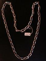 CHAINE  ARGENT MASSIF MAILLE LARGE LONG 56 CM VINTAGE NEUF /NEW SILVER CHAIN