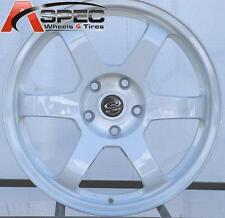 17X8 ROTA GRID 5X114.3 +35 WHITE WHEEL FITS RSX CIVIC ACCORD