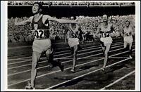 1956 Olympiade MELBOURNE Endspurt Laufen Klaus Richtzenhain und Delany (Irland)