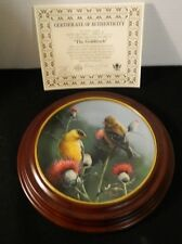 1987 Goldfinch 8th Edition Knowles Birds Of Your Garden With Custom Frame Coa