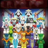LOTE 16 FIGURAS NINJAGO ENEMIGOS - ESTILO LEGO COMPATIBLES BLOQUES CONTRUCCIÓN