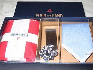 Four In Hand Men's Pocket Square Set! NEW!