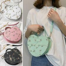 Women Messenger Bag Handbag Crossbody Bags Heart-shaped Shoulder Bag Leisure