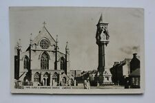 RARE Postcard Tate Clock & Dominican Church, LIMERICK real photograph