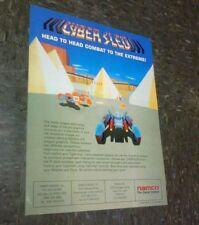 Namco CYBER SLED flyer- good original