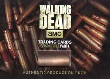 Walking Dead Season 3 Part 1 Authentic Shell Casing SC-01 Prop Card