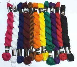 10 Pearl Cotton sewing cross stitch thread embroidery skeins floss various color
