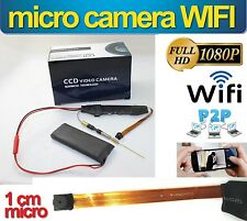 MICRO CAMERA TELECAMERA VIDEOSORVEGLIANZA WIFI WIRELESS SPY HD NASCOSTA 1080P