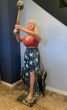 Antique Vintage Maritime Ship Figurehead Riverboat Liberty Nautical Carved Wood