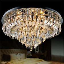 Luxury LED Crystal Chandelier Lamp Living Room Bedroom Lighting Ceiling Fixture