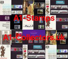 More details for presentation packs 1964-1970 gb royal mail stamps commemorative mint unused