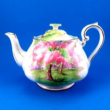 Royal Albert Blossom Time with Green Handle Lid Large Teapot