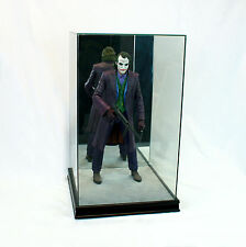 "1/4 Scale Comic Figurine Display Case 20"" Tall All Glass Black Sport Moulding"
