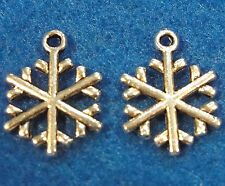 10Pcs. Tibetan Silver SNOWFLAKE Charms Earring Drops Pendants Findings CH27